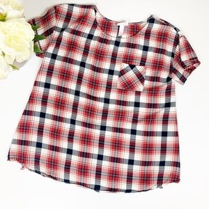 Isabel Maternity Plaid Top